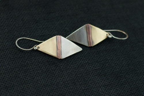 mixed-metal-rhombus-earrings4