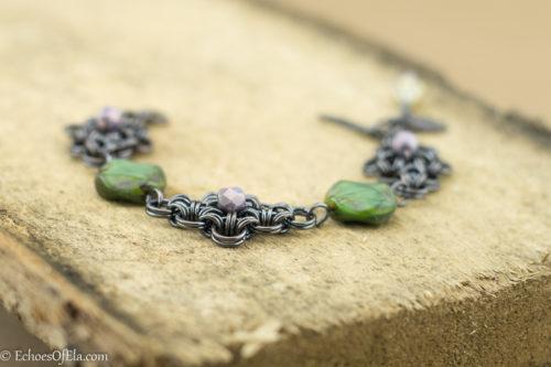 black-copper-green-lavender-rhombus-bracelet8
