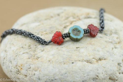 redleaf-blueflower-copper-bracelet2